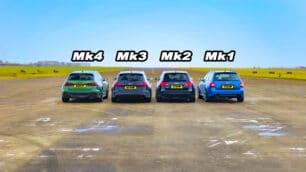 [Vídeo] Batalla de Audi RS 6 Avant: las cuatro generaciones del icono cara a cara