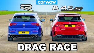 [Vídeo] Mercedes-AMG A 45 S vs. Volkswagen Golf R: no tengas tan claro el resultado...