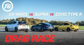 Carrera de aceleración Toyota GR Yaris, Supra y Civic Type R