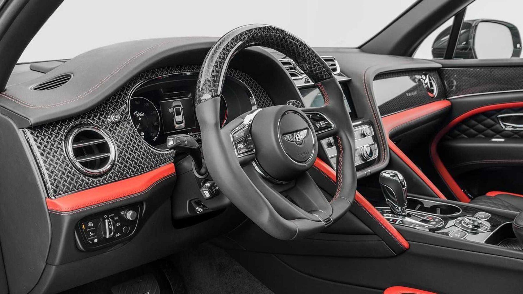 Interior Bentley Bentayga de Mansory