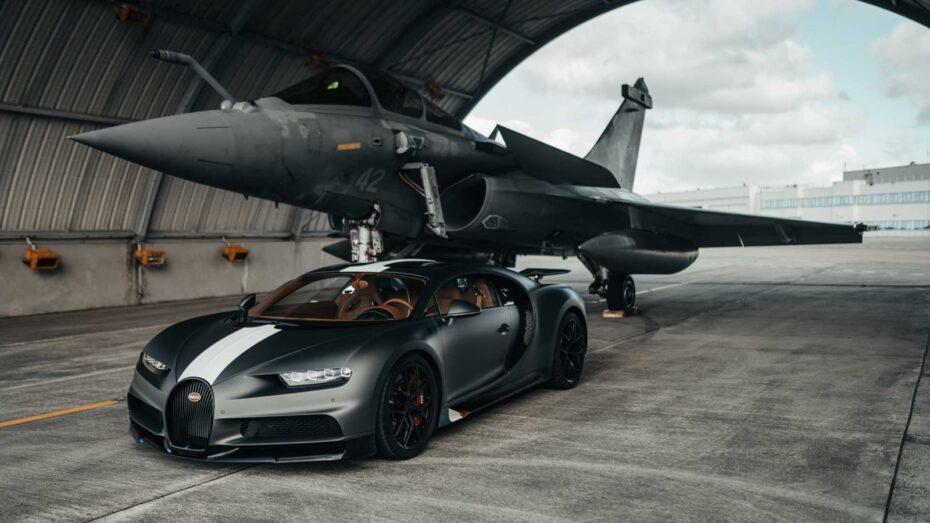 Bugatti Chiron Sport Vs. Dassault Rafale Marine, el duelo del año