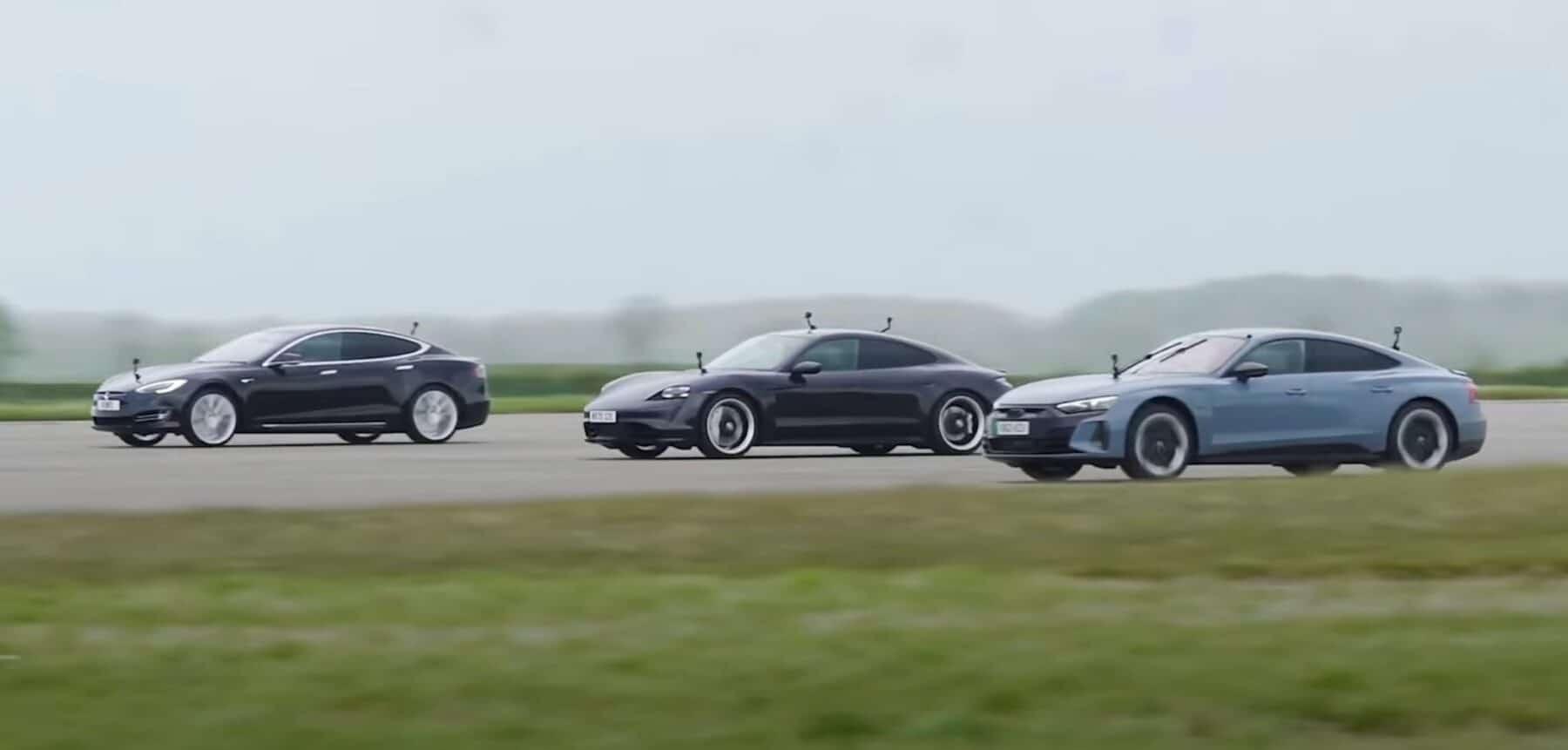 El Audi RS e-tron GT se enfrenta a sus rivales