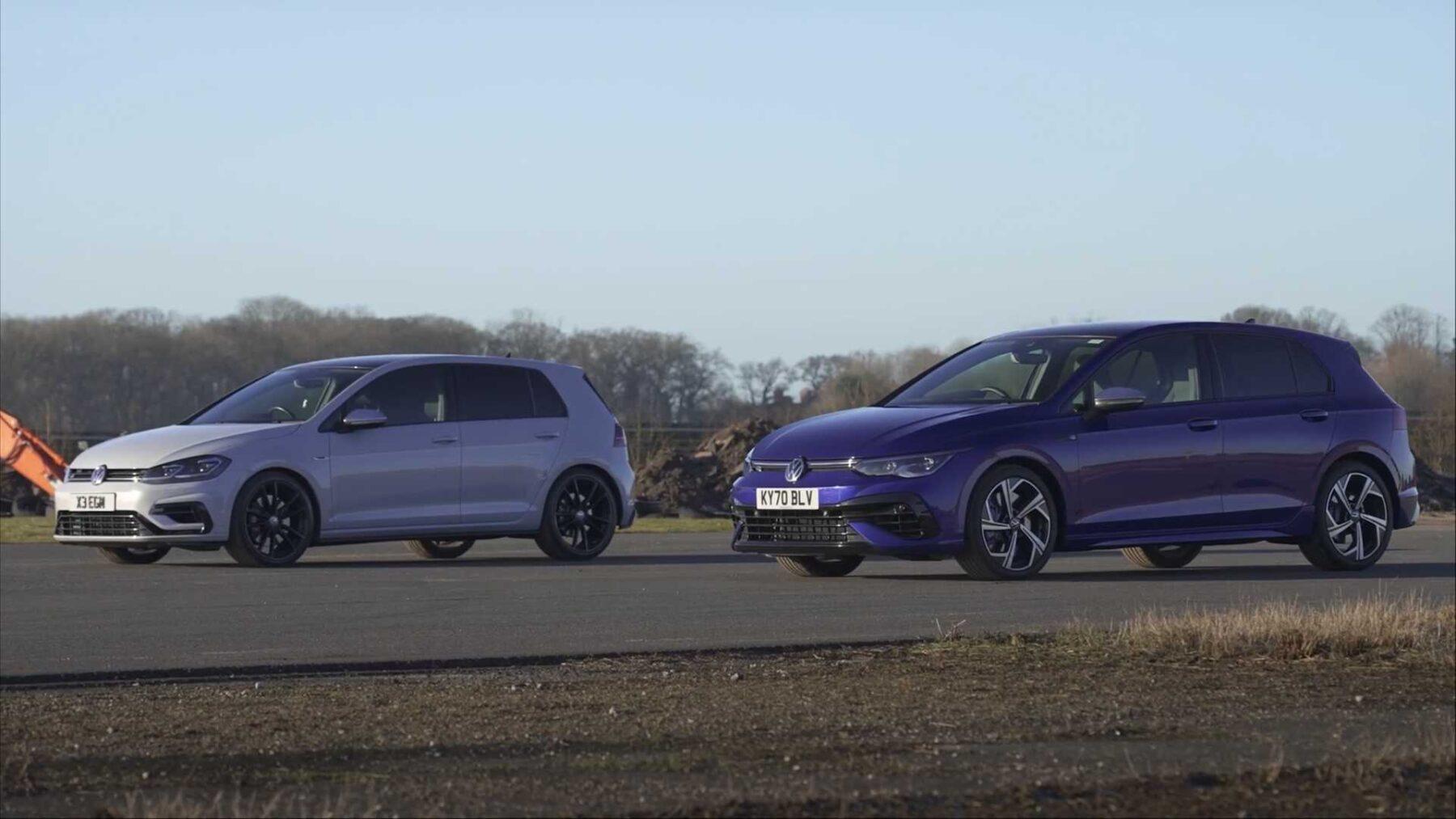 Las dos generaciones del Volkswagen Golf R se enfrentan