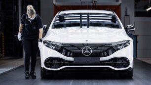 Comienza la producción del Mercedes-Benz EQS: el supersedán eléctrico está cerca