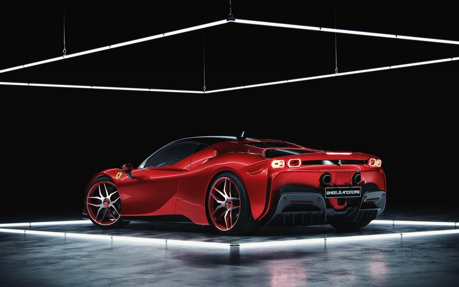 Zaga Ferrari SF90 de Wheelsandmore