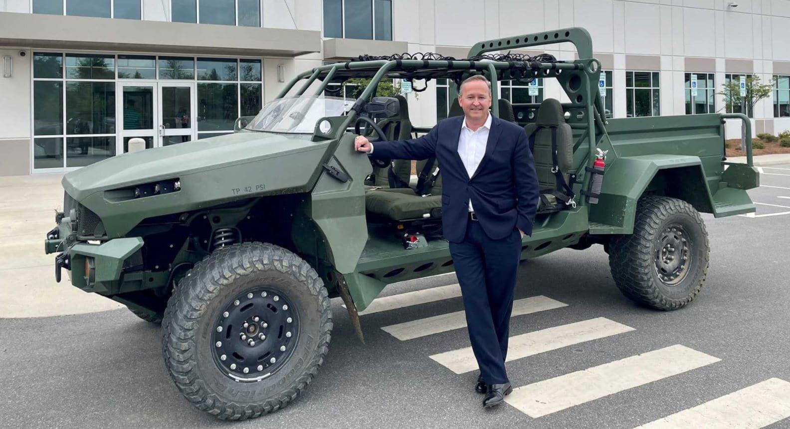 coche militar eléctrico