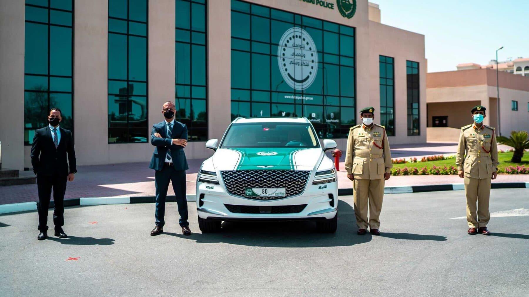 El Genesis GV80 es el nuevo coche patrulla de Dubái