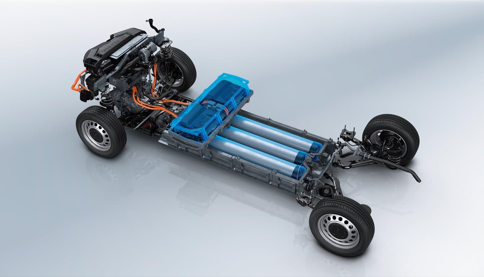 Tren motriz Peugeot e-Expert Hydrogen