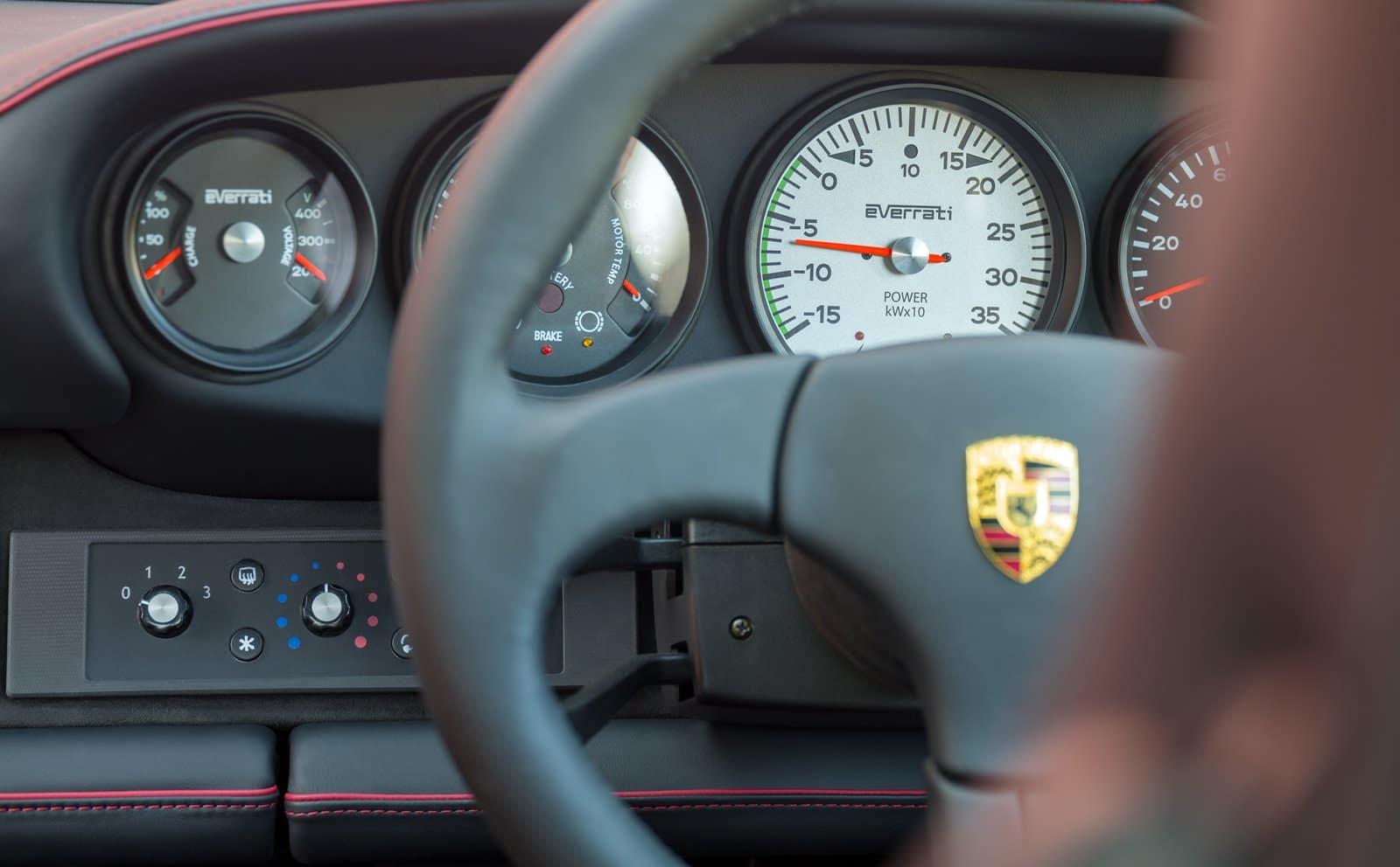 Interior Porsche 911 eléctrico