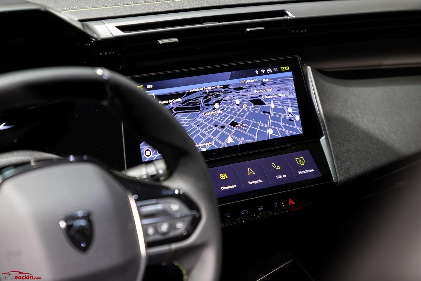 Pantalla multimedia Peugeot 308 2021