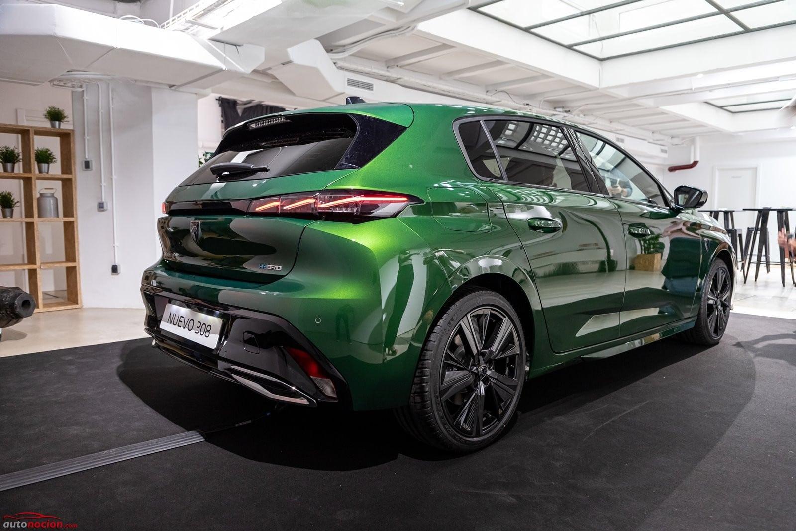 Vista trasera Peugeot 308 2021