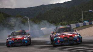 Los BMW M4 Competition de los Redbull Driftbrothers nos deleitan sobre la pista