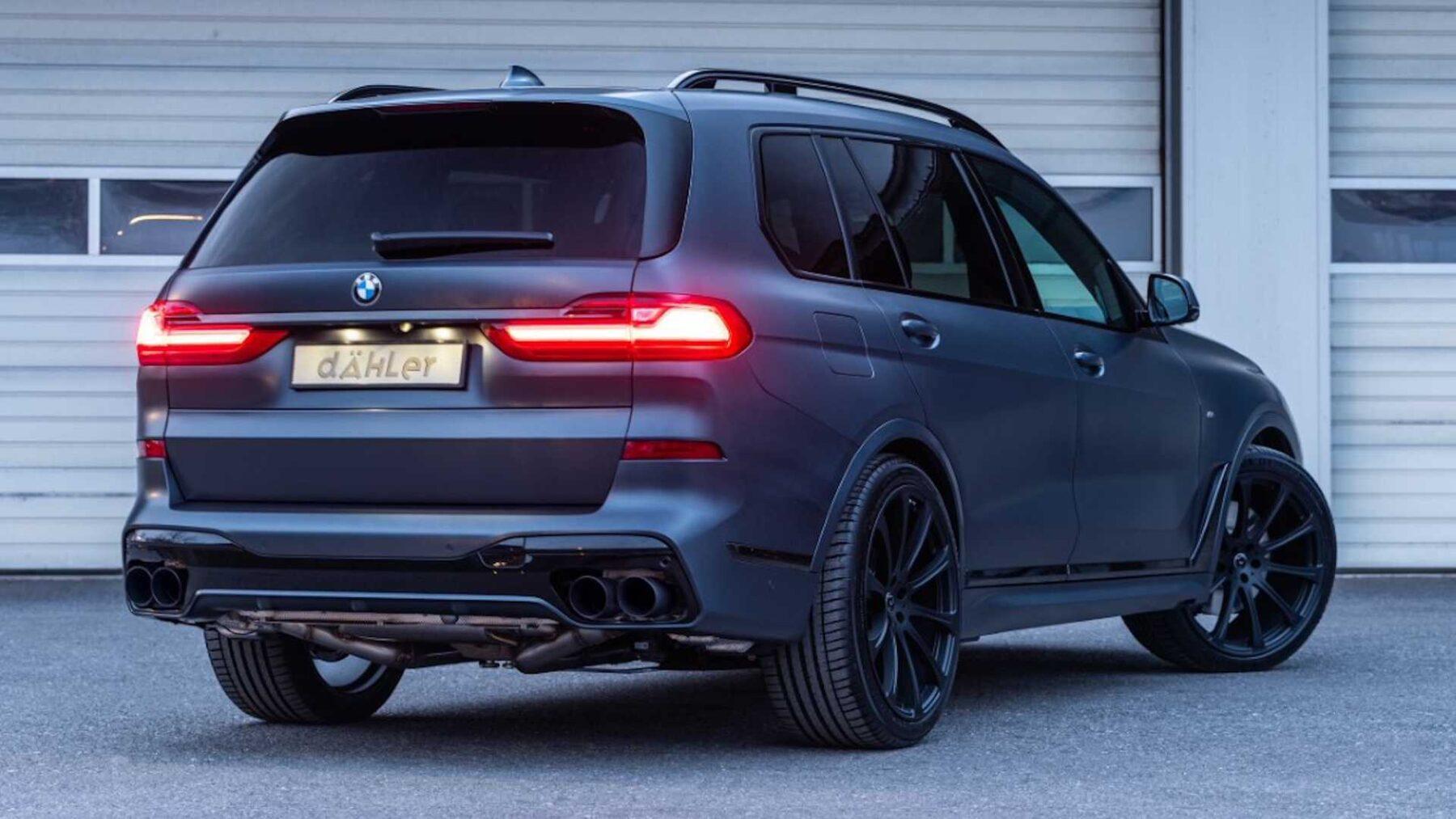 El BMW X7 Dark Shadow Edition de Dähler recibe pocos cambios estéticos