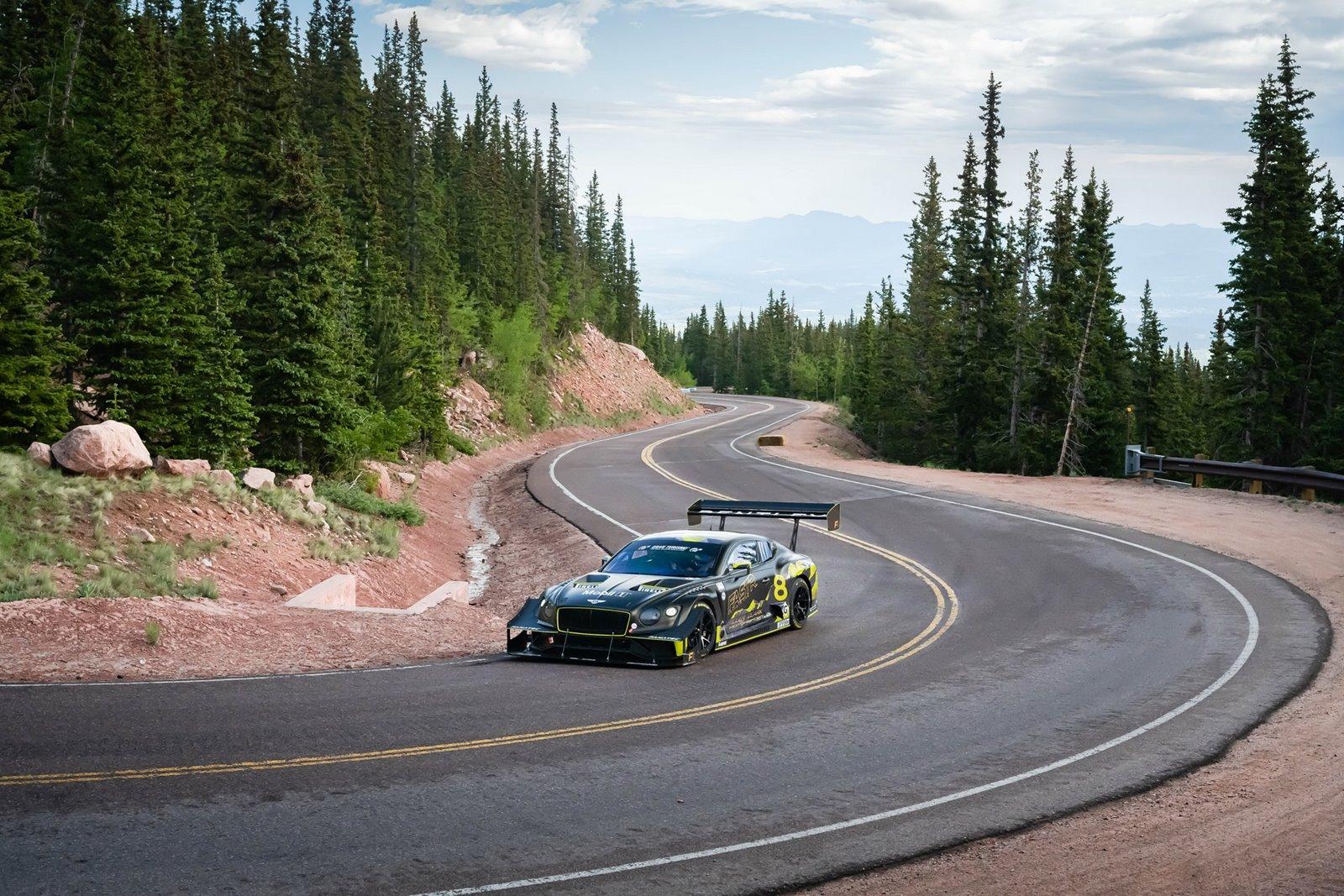 El Bentley Continental GT3 de Pikes Peak no pudo hacerse con su tercer récord