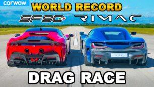 [Vídeo] Rimac Nevera vs. Ferrari SF90 Stradale: ¿Apostamos con casi 3.000 CV en juego?