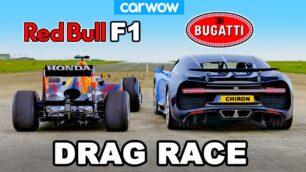 [Vídeo] Bugatti Chiron vs. Red Bull RB7: ¿Puede el hipercoche con un monoplaza de F1?