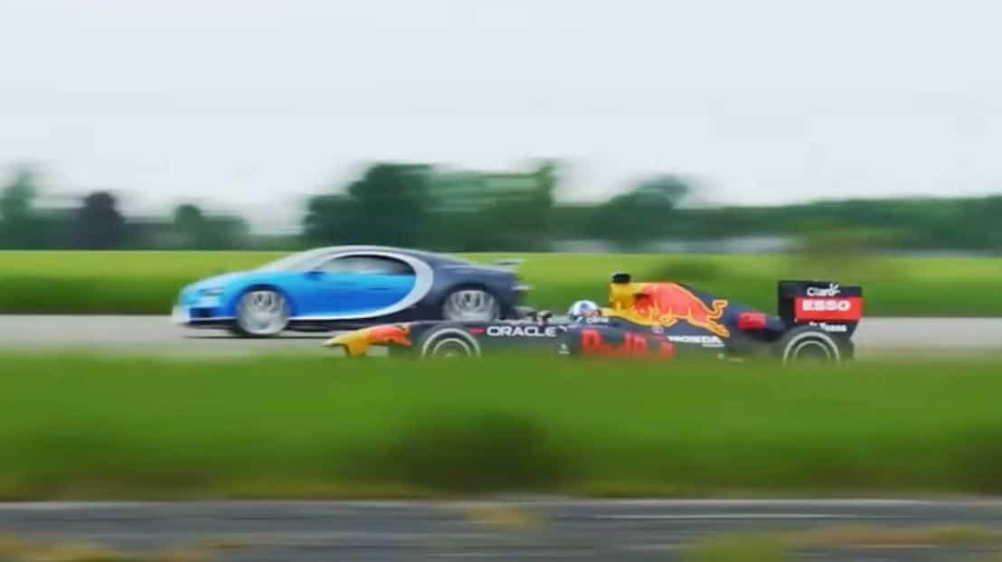 El Bugatti Chiron se enfrenta a un monoplaza de F1