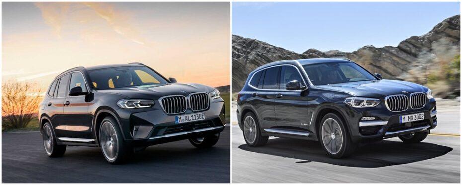 Comparación visual BMW X3 y X4 2021: ¿Qué os parecen los cambios?