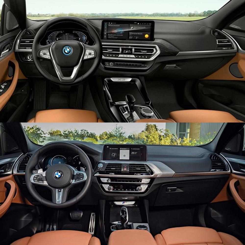 Interior BMW X3 y X4 2021 frente a sus predecesores