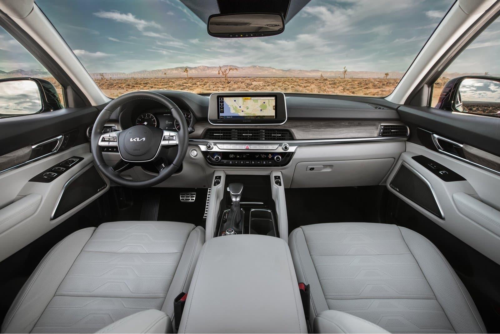 Más equipamiento en el interior del Kia Telluride 2022