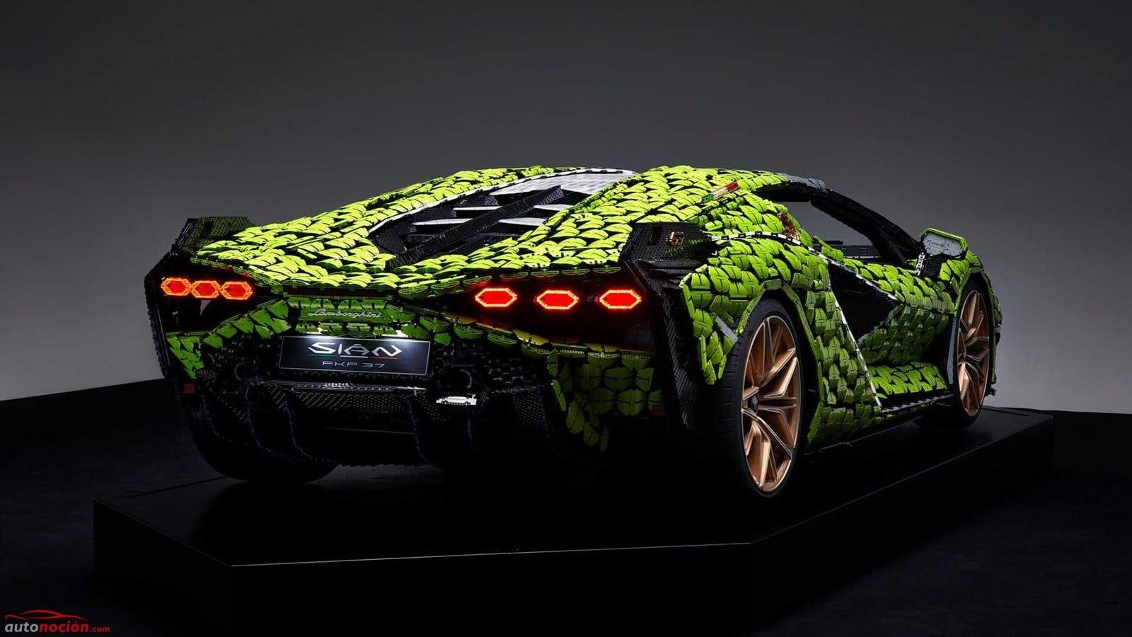 Lamborghini Sian de LEGO a tamaño real