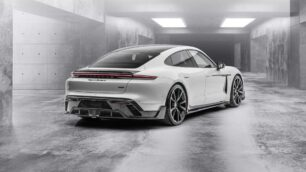 El Porsche Taycan de Mansory recurre a la fibra de carbono