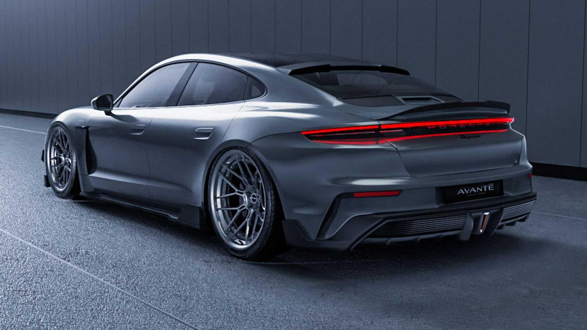 El Porsche Taycan de Avante Design no tiene modificaciones mecánicas