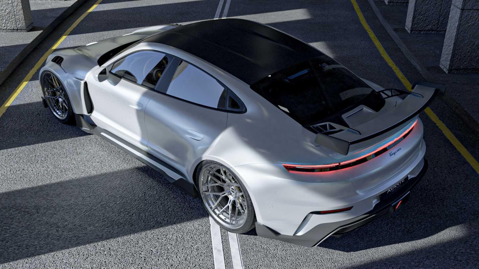 El Porsche Taycan de Avante Design es uno de los más radicales que conocemos