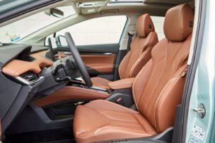 Hay varias opciones de tapizado para el interior del Škoda Enyaq iV 80