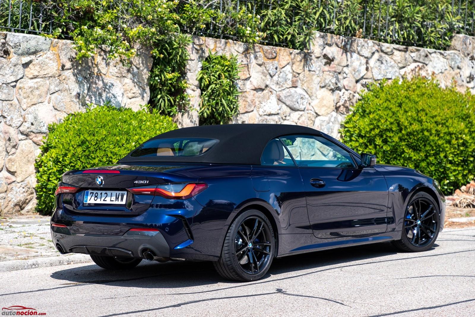 La capota de lona ofrece un aislamiento sensacional en el BMW 430i Cabrio