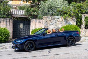 Para el BMW 430i Cabrio se ofrece un deflector de viento opcional