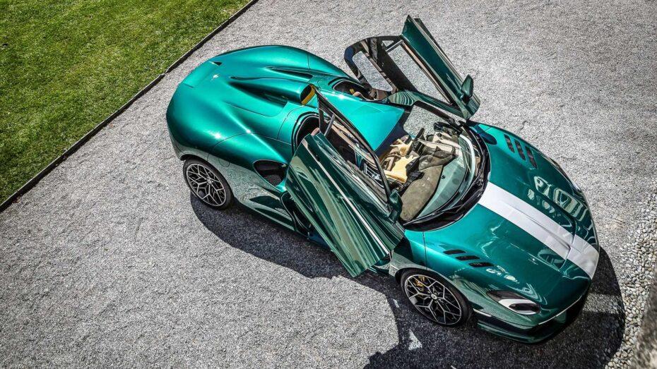 Esta preciosidad se llama Touring Superleggera Arese RH95 y presume de un V8 con 720 CV