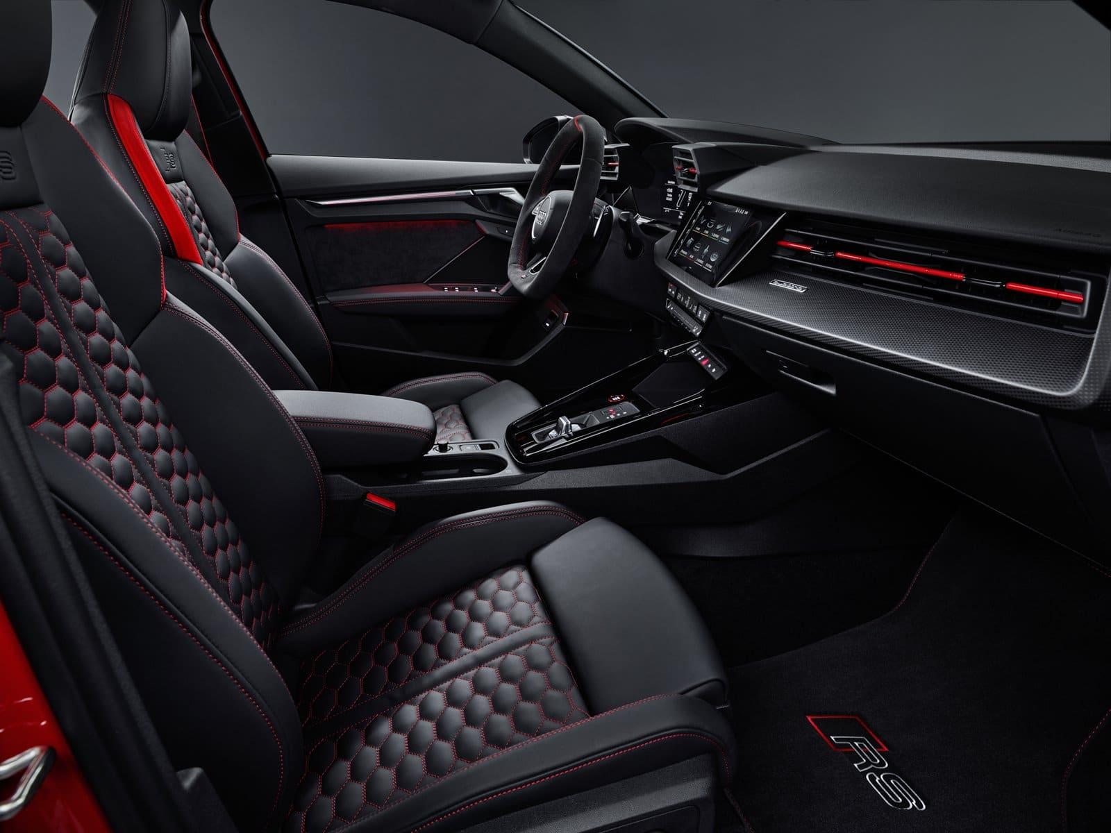 nuevo Audi RS 3 asientos