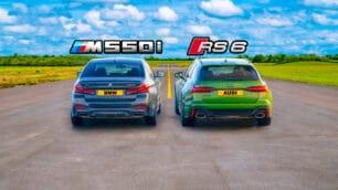 [Vídeo] Audi RS 6 Avant vs. BMW M550i xDrive: ¿Es capaz la berlina de