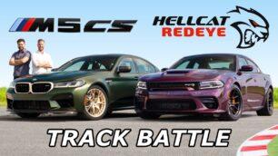 [Vídeo] BMW M5 CS vs. Dodge Charger SRT Hellcat Redeye: ¿635 CV alemanes u 808 CV americanos?