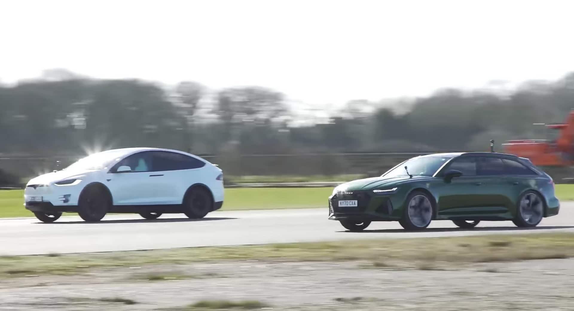 El Audi RS 6 Avant se enfrenta al Tesla Model X