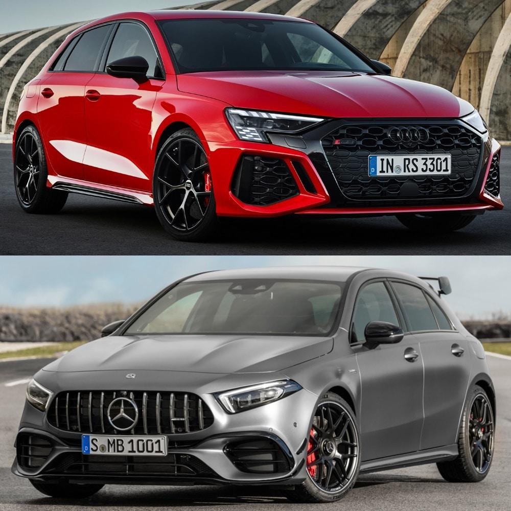 ¿Eres de Audi RS 3 o de Mercedes-AMG A 45 S?