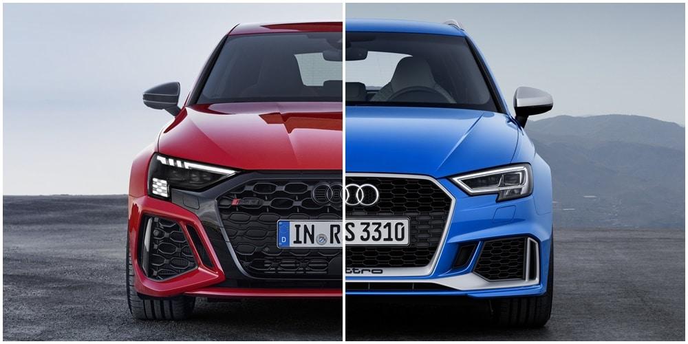 Comparación visual Audi RS 3 2021: ¿Qué te parece la evolución del deseado compacto?