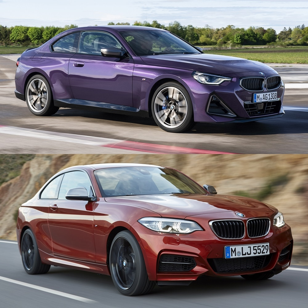 Comparativa visual frontal BMW Serie 2 Coupé 2021