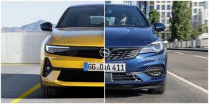 Comparación visual Opel Astra 2022: ¿Te parecen acertados los cambios?
