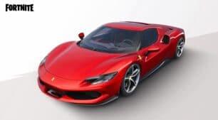 Atravesar la tormenta de Fortnite con un Cavallino Rampante es posible gracias al Ferrari 296 GTB