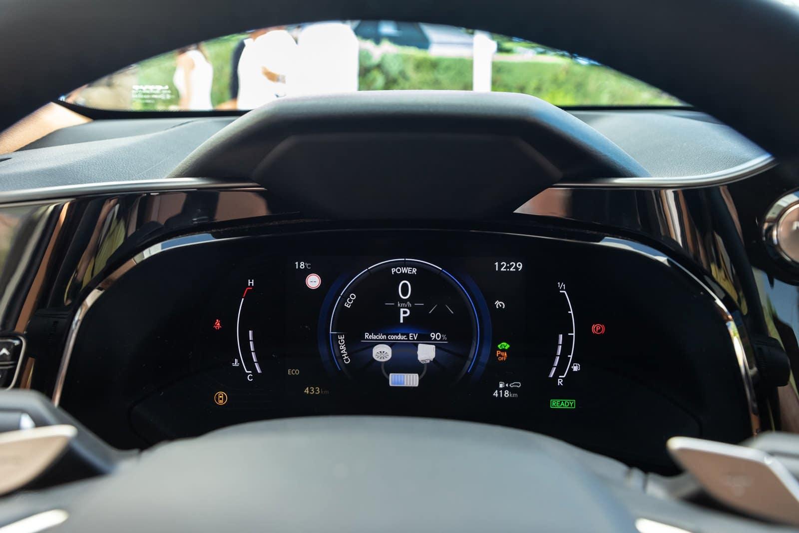 Instrumentación Lexus NX 2021
