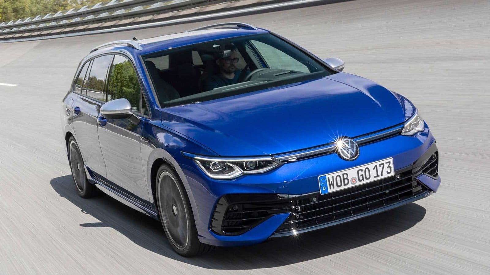 Volkswagen Golf R Variant azul