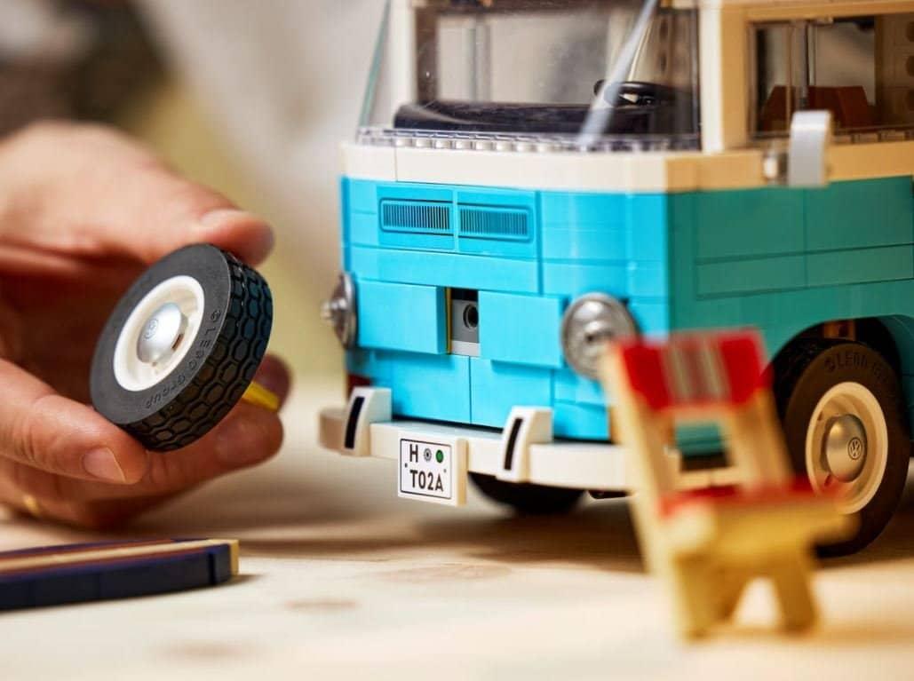 Volkswagen T2 de LEGO azul