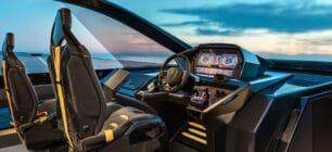 Así es el interior del nuevo yate de Lamborghini con dos motores V12 de MAN