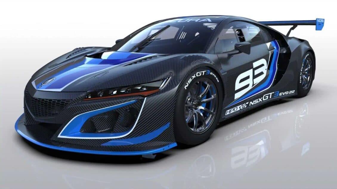 Así es el Acura NSX GT3 Evo22: el deportivo híbrido más racing se actualiza