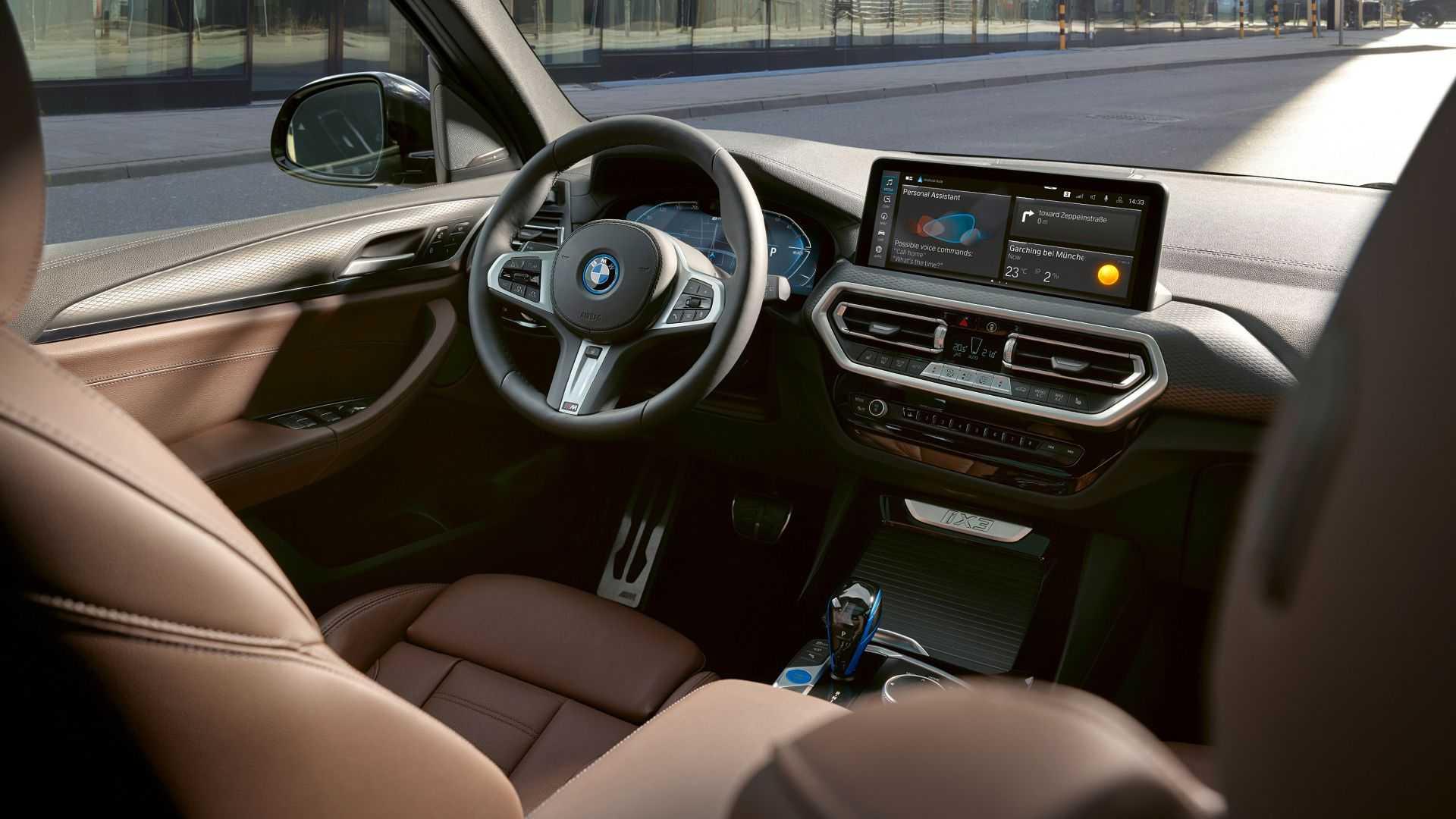 Más tecnología en el interior del BMW iX3 2022
