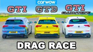 [Vídeo] Volkswagen Golf GTI Clubsport vs. GTI vs. GTD: ¿Es oro todo lo que reluce?