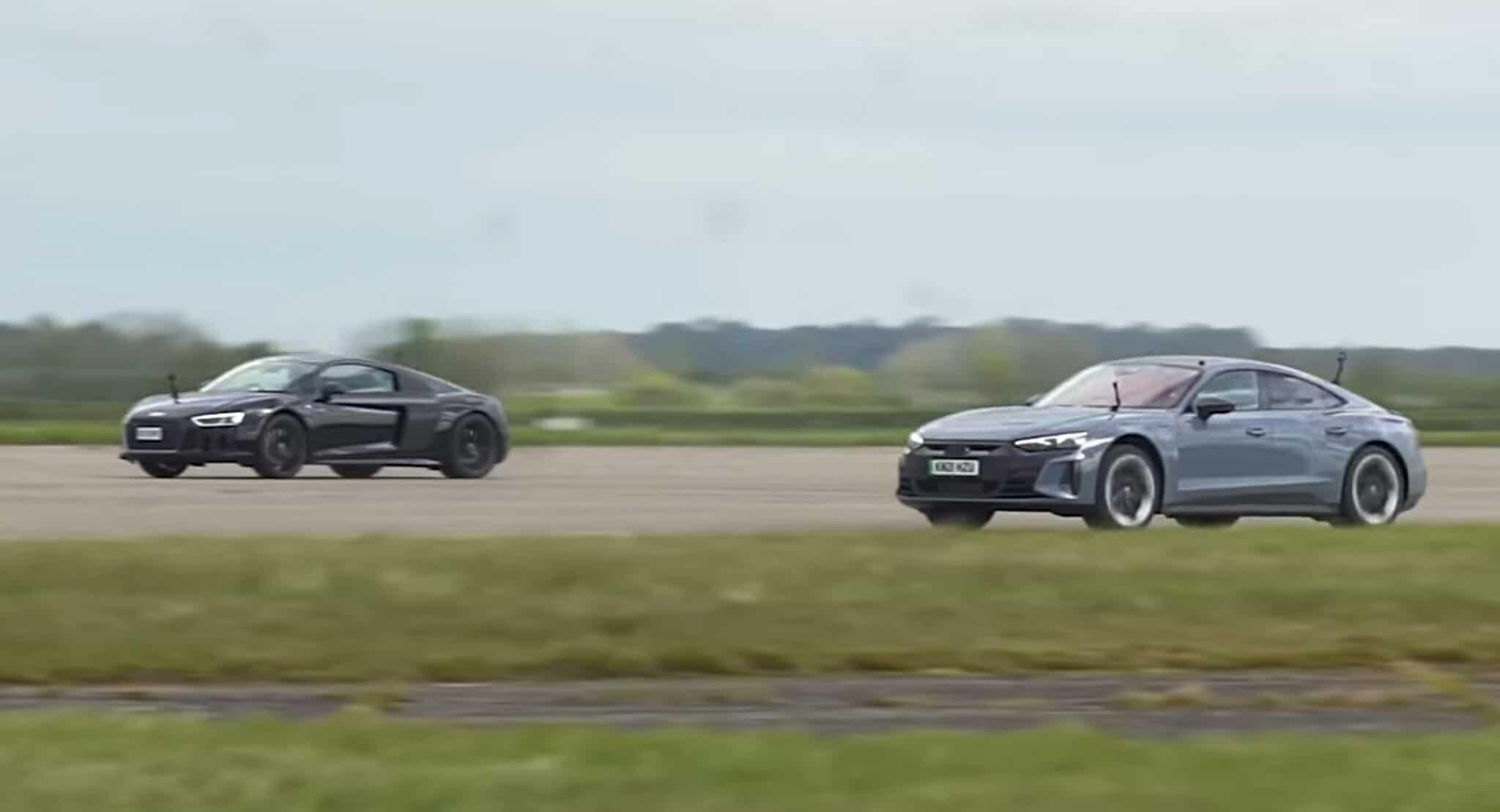 El Audi RS e-tron GT se enfrenta al Audi R8