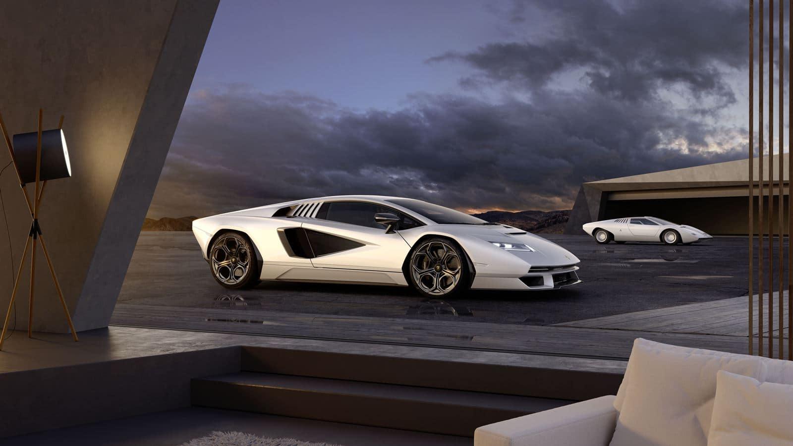 Lamborghini Countach LPI 800-4 blanco
